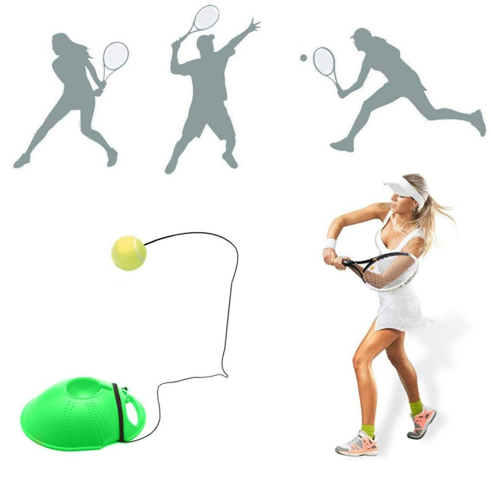 Tennis Trainer Exercise Tennis Ball Sport Self-study Rebound Ball Baseboard Practice Equipment Tennis Training Tool