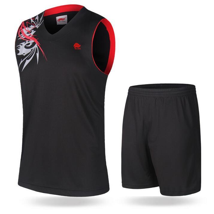 Prix pour Vente chaude Solide Respirant Hommes Maillots De Basket Ensemble Plus La Taille Formation Survêtement Costume de Maillot de Sport S-4XL