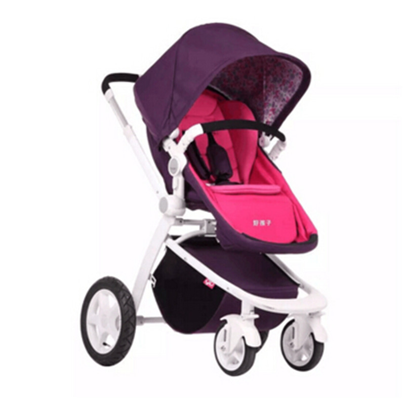 Pushchair stroller Light baby stroller before and after the stroller light folding two way direction car seat high chair avoid the ultraviolet radiation with the canopy pushchair baby build a safe soft environment for babies boys and girls pushchair