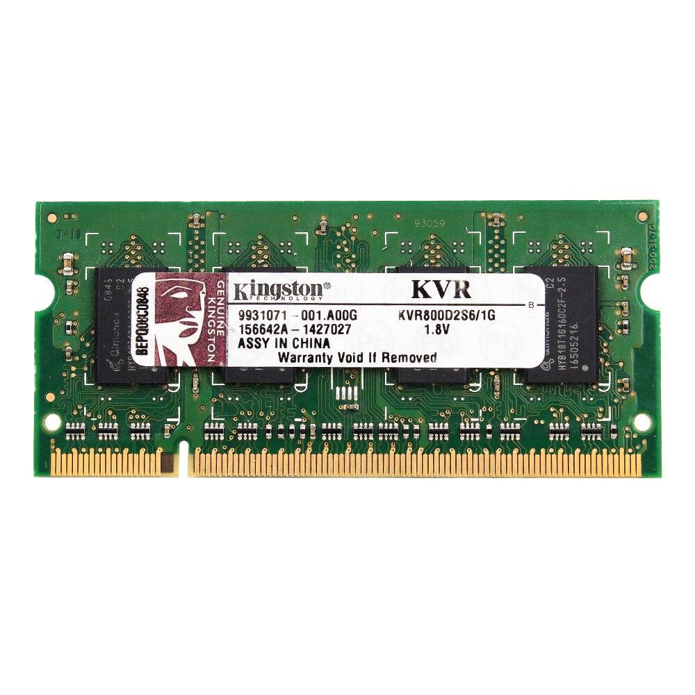 Kingston Laptop Memory 2GB 1GB DDR2 800HMZ DDR2 PC2-6400S 2GB=2PCS*1G Laptop RAM 1.8V