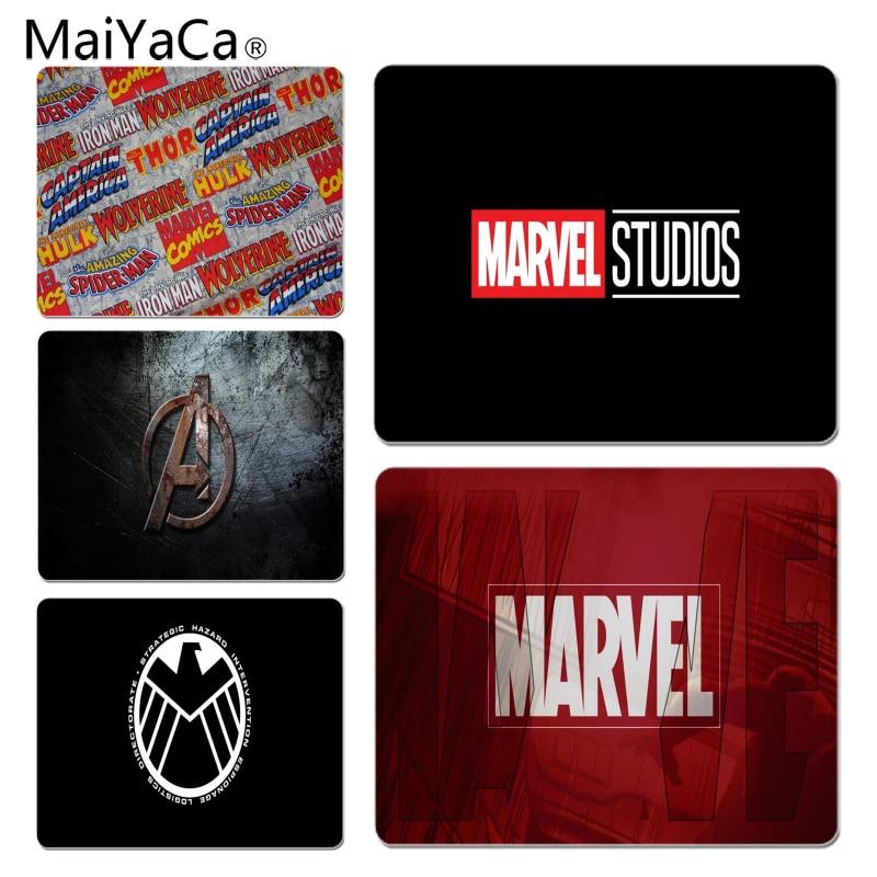 MaiYaCa Marvel Comics logo Customized laptop Gaming mouse pad Size for 25X29cm Gaming Mousepads ...