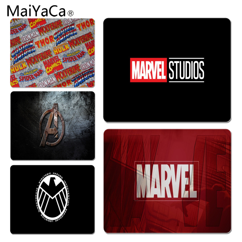 MaiYaCa  Marvel Comics Logo Customized Laptop Gaming Mouse Pad Size For 25X29cm Gaming Mousepads