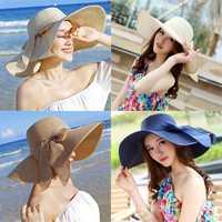 2019 nouvelles dames d'été chapeaux avec bord nouvelle marque paille chapeaux pour femmes plage soleil chapeaux disquette sunhat, chapeau femme, chapeu de praia