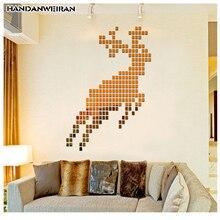 100pcs square acrylic mirror stickers 2*2cm bedroom living room decorative DIY wall