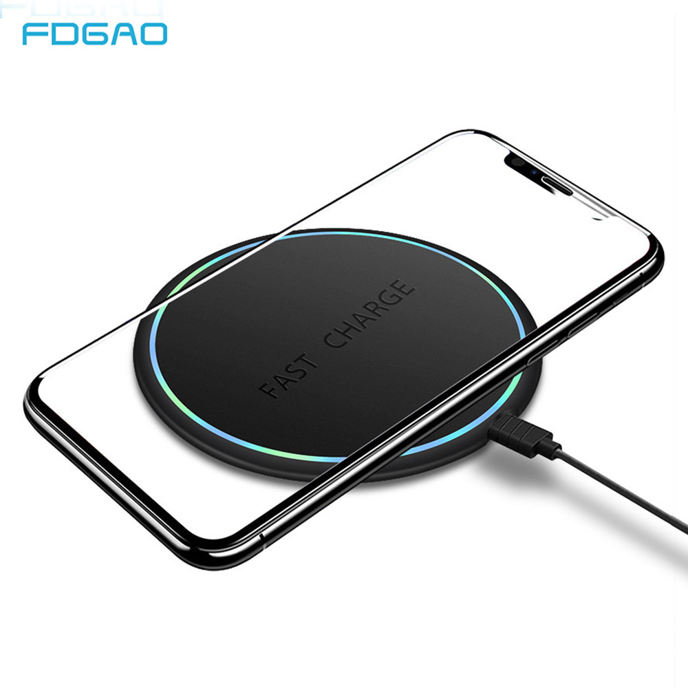 FDGAO Charger-Pad Fast-Charging iPhone Wireless Qi Samsung S10 10W No for 8-x-xr/Xs/Max/..