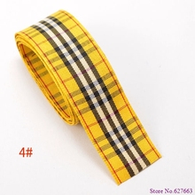 free shipping,1″(25mm) width,styles polyester scottish tartan,gingham ribbon,bow decorative