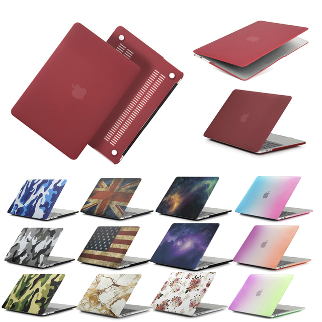 New Solid For Macbook Air 11 13 Pro Retina 13 15 New 12 Laptop Case Red Wine PC For Macbook Pro Air 13 Pro 13 Laptop Case Cover