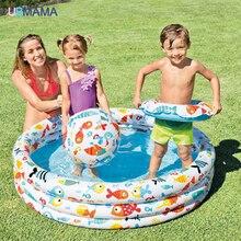 Lovely Inflatable ว่ายน้ำสระว่ายน้ำแพคเกจเด็กทารกโฮมเธียเตอร์อ่างล้างหน้าสนามเด็กเล่นสระว่ายน้ำ + ล...
