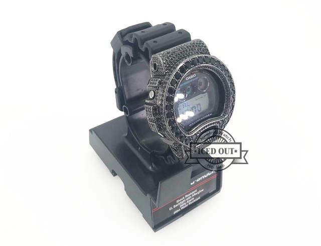 0b713d7078f9 placeholder Free Shipping Black Cz Diamond Iced Out Diamond G Shock DW6900  watch bezel