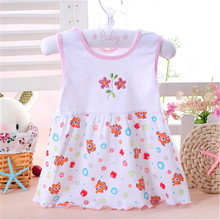 1pc low price 2019 Cute summer girls dresses style infantile Dress hot sale baby girl clothes Summer flower style dress
