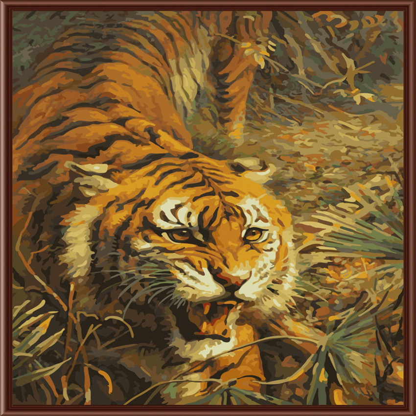 Online Buy Wholesale tiger oil painting from China tiger ...