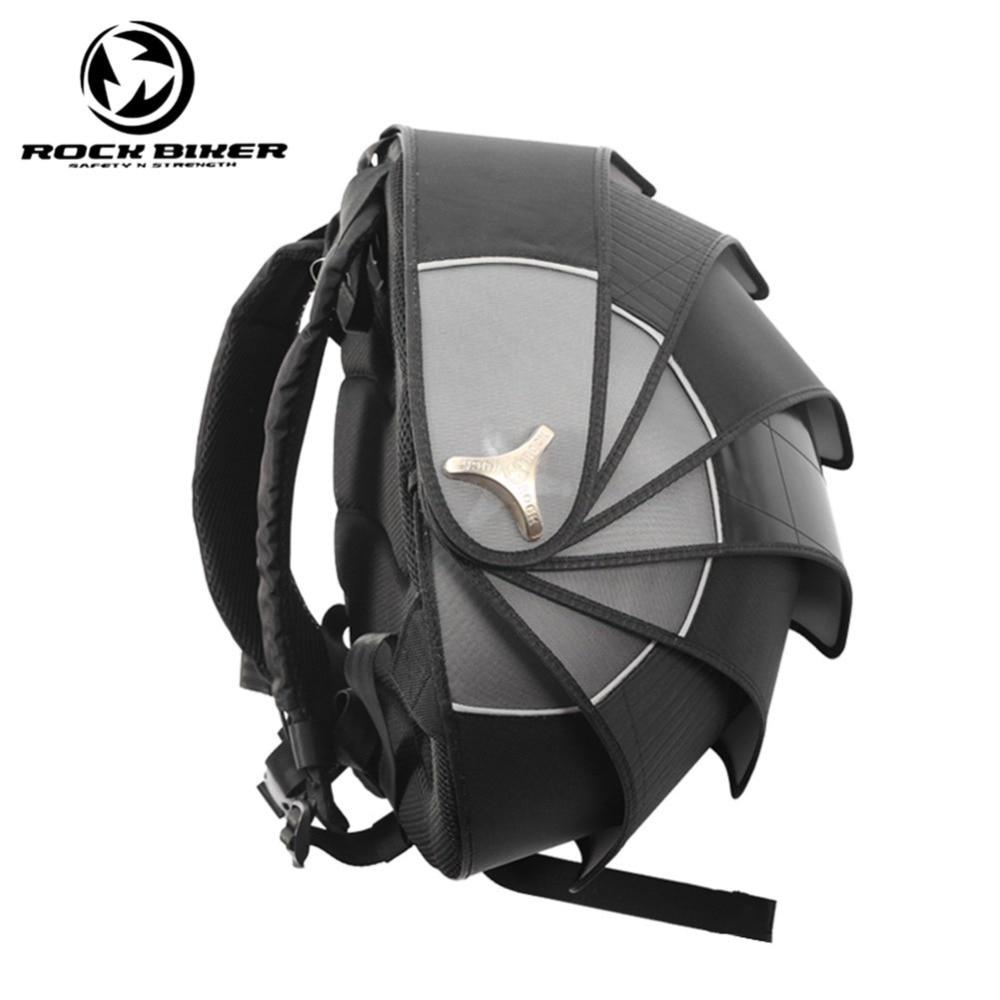 ROCK BIKER Pangolin Motorcycle Backpack Helmet Bags Hard Waterproof Shell Motocross Backpack Unisex Top Case Motocicleta