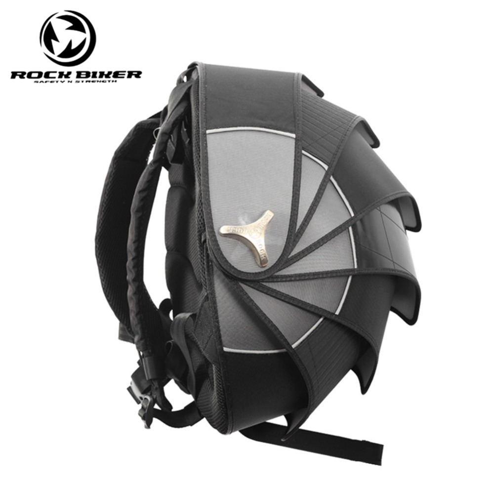 ROCK BIKER Pangolin Motorcycle Backpack Helmet Bags Hard Waterproof Shell Motocross Backpack Unisex Top Case Motocicleta цена