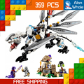 359 unids bela 10323 titanium dragon ninja zane maestros spinjitzu building blocks juguetes compatible con lego