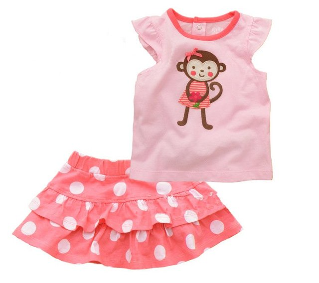 Wholesale Fashion  Summer Carters Cute Girls Sets Baby Suits Children Clothing Set Girls Clothes Kids