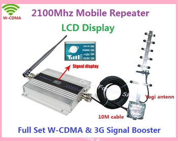 ZQTMAX 3G Signal Booster 2100 WCDMA UMTS Mobile Phone Cellular Amplifier 3g Repeater with yagi Antenna
