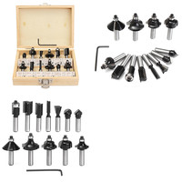 12pcs Tungsten Carbide Drill Bits 8mm Black Router Bit Set Woodworking Cutter Rotary Tool For Woodworking