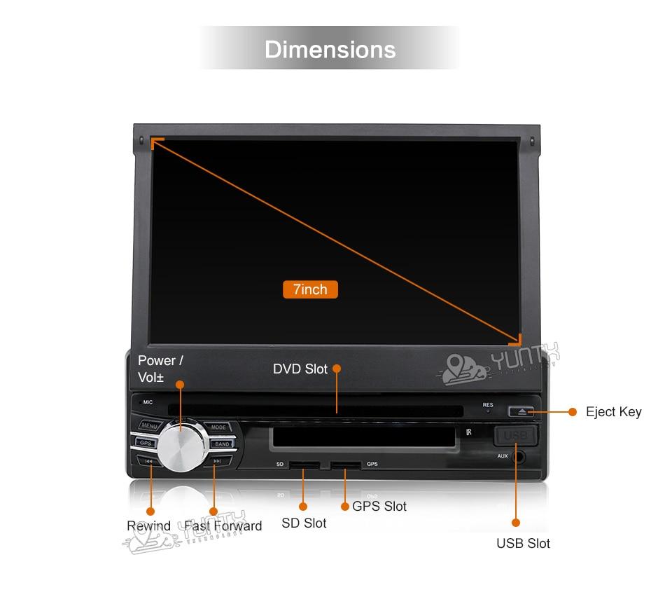android 6 0 7 Universal 1 Din Car Audio DVD Player Radio GPS Navigation Autoradio Stereo