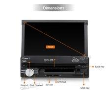 "Android 6.0 7 ""Universal 1 Din Car Audio DVD-Player + Radio + GPS-Navigation + Autoradio + Stereo + BT + PC + DVD Automotivo + SD USB RDS Aux"