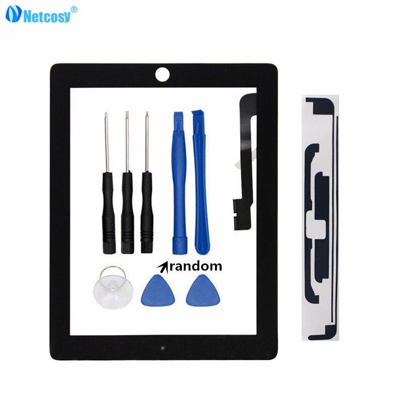 Netcosy Tablet Écran Tactile Pour iPad 3 4 écran Tactile digitizer sans accueil bouton Pour ipad 3/4 Écran Tactile et Bandes & Outils