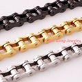 Brand New Fashion 316L Stainless Steel Silver/Gold/Black Biker Jewelry Motorcycle Link Chain Mens Womens Bracelet Bangle Gift