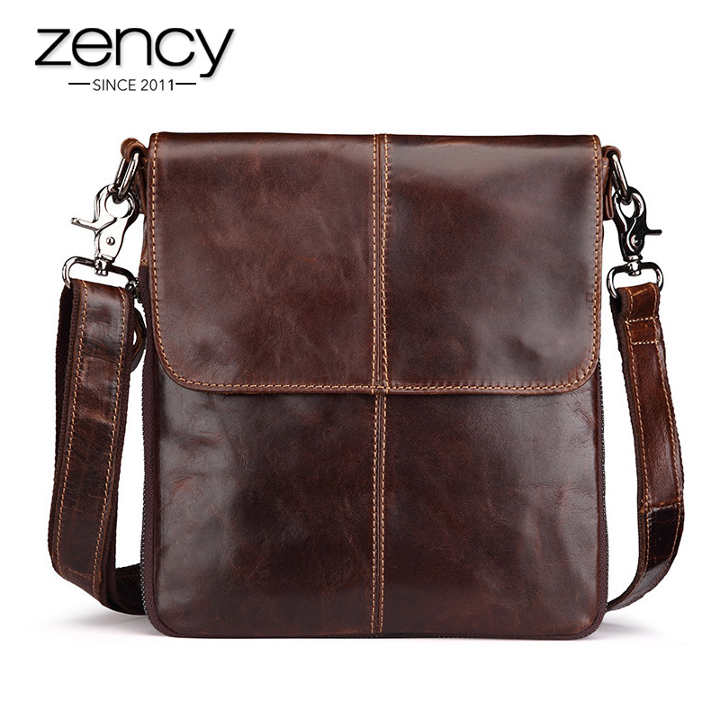 2018 New Arrival Men's Genuine Leather Shoulder Bag Crossbody Bags For Men Messenger Bag Portfolio Briefcase Laptop Business 003 mva men genuine leather bag messenger bag leather men shoulder crossbody bags casual laptop handbag business briefcase