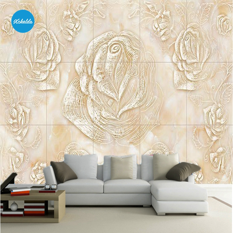 XCHELDA 3D Mural Wallpapers Custom Painting Line Flower Design Background Bedroom Living Room Wall Murals Papel De Parede custom 3d wall murals wallpaper luxury silk diamond home decoration wall art mural painting living room bedroom papel de parede