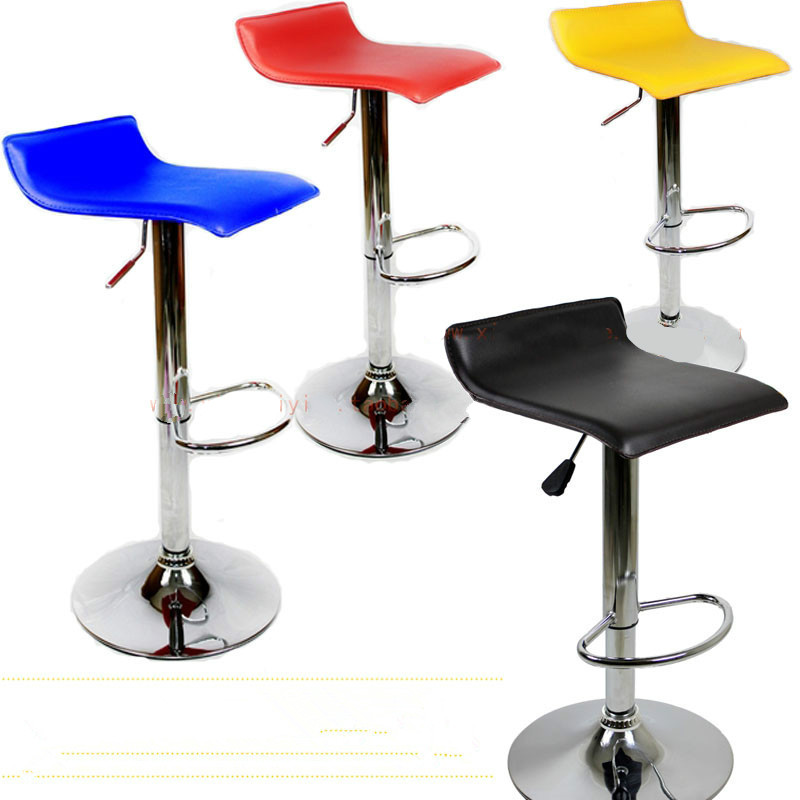 The Wholesale Price Simple Fashion Bar Chair Swivel Bar Stools Chairs Height Adjustable PU Large Load-bearing
