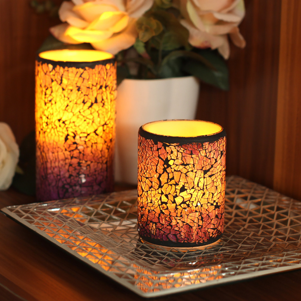 Dfl led candle flameless wax candle electronic lantern light with timer office wedding decor - Candle home decor photos ...