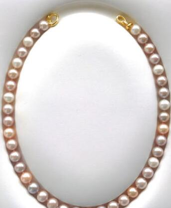 bjc>>ROUND PINK LAVENDER PEARL NECKLACE AAAbjc>>ROUND PINK LAVENDER PEARL NECKLACE AAA