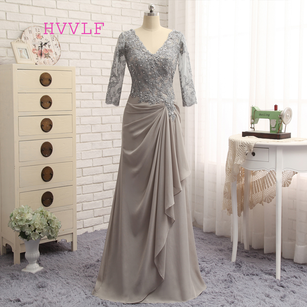 Plus Size Mother Bride Dresses: Aliexpress.com : Buy Plus Size Gray 2019 Mother Of The