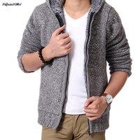 winter Heavyweight Fleece sweater men Wool Liner mens sweaters pullover men cardigan cardigan hooded pull homme chompas