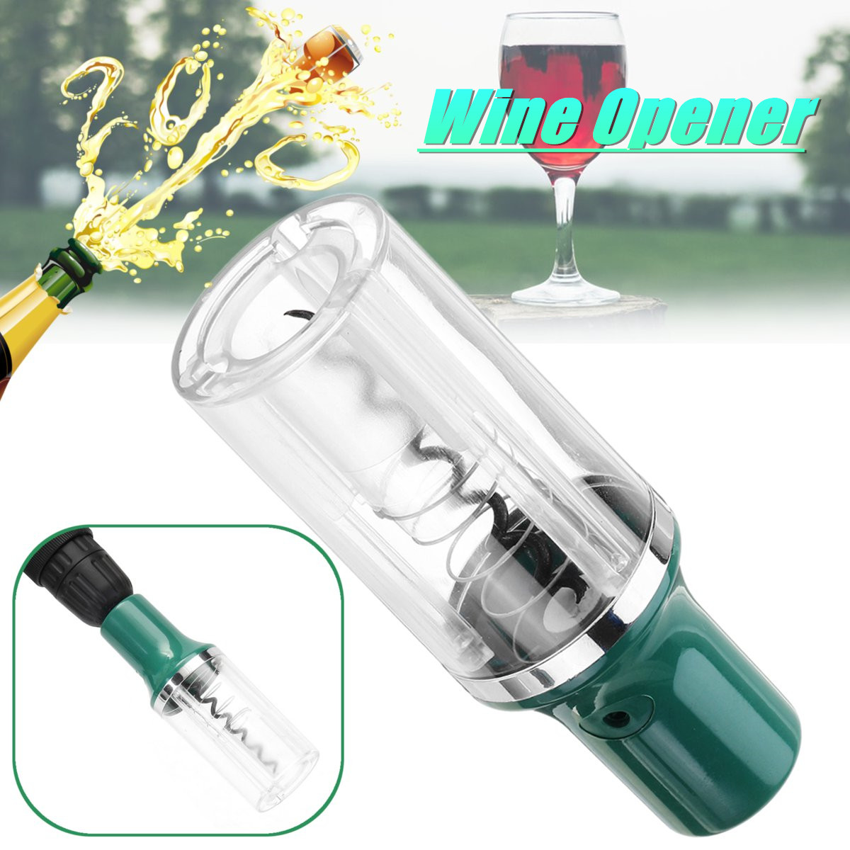 1/4 Inch Hex Shank Electric Drill Wine Bottle Opener Wine Opener With Foil Cutter For  Drills