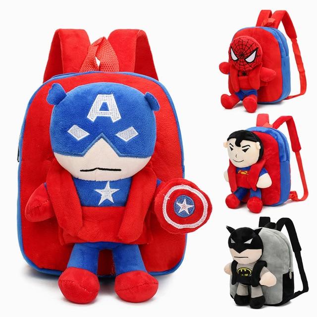 Kids Backpacks Toddler Backpack Children Bags Batman Spiderman Captain America Preschool For Boys With Detachable