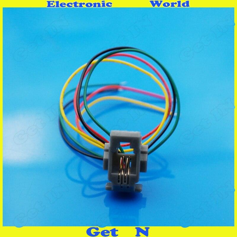online shop rj9 rj10 rj11 cable socket head phone jack 616w 4p4c connector  4x200mm   aliexpress mobile