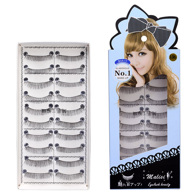 10 Pair False Eyelashes Natural Wispy Long lashes Extension Messy Handmade Eye Cross Curved Fake Eye Lash Makeup Kit Fast Ship in False Eyelashes from Beauty Health