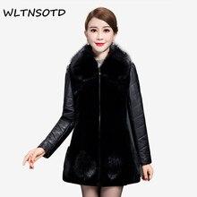 2017-18 High quality design ladies winter faux fur coat women winter fashion furs women's leather coats jacket plus size 5XL