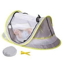 Переносная детская кроватка, 4 сетки, окружает дорожную кровать, пляжный тент с УФ-защитой от комаров/УФ 50 Плюс/Защита от солнца, дорожные кровати