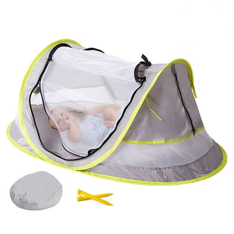 Portable Baby Crib 4 Mesh Surrounds Travel Bed Beach Tent With UV Protection Mosquito/UV 50 plus /Sun Protection Travel Beds