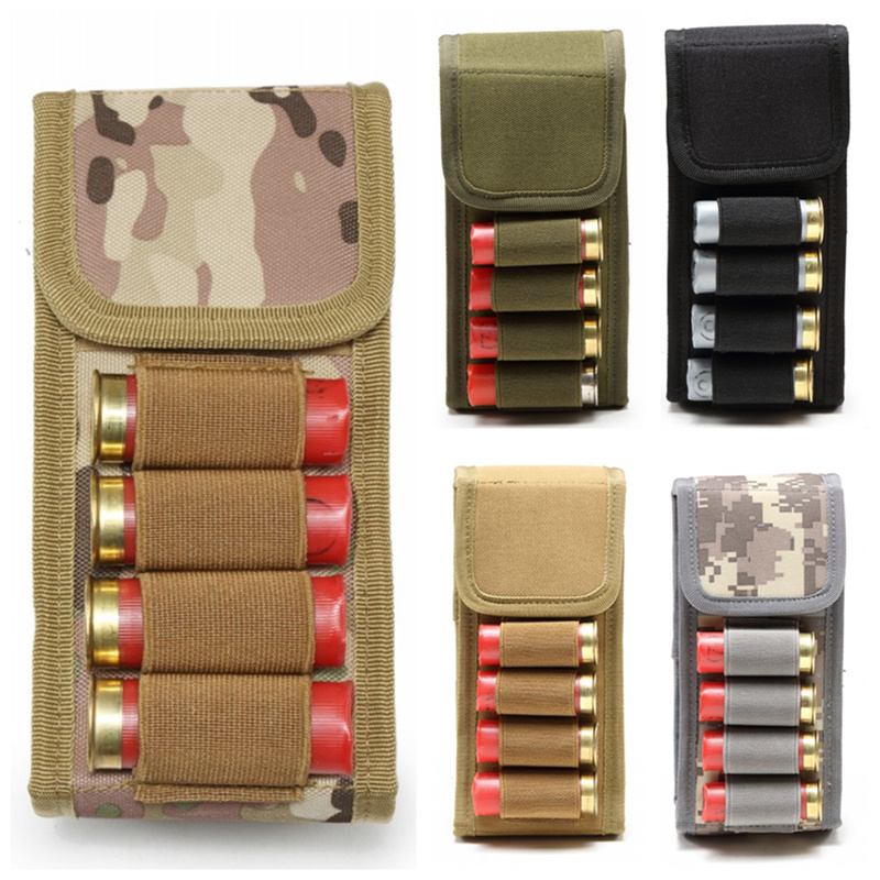 CQC Tactical Airsoft Molle Magazine Pouch 16 Round 12 Gauge 12GA Ammo Shells Holder Military Hunting Bandolier Cartridge Bag