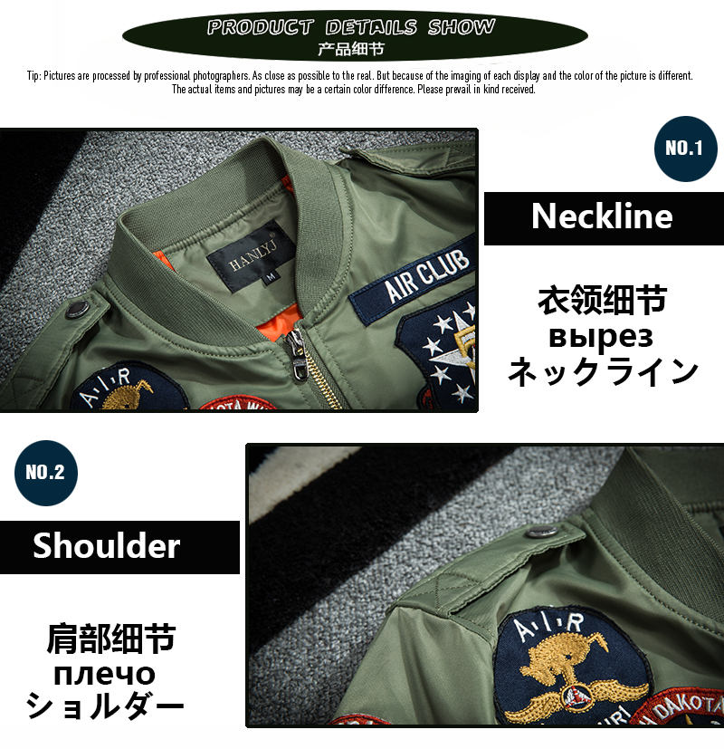 Topdudes.com - Retro Embroidery Patch Motorcycle Badge Anarchy Flight Bomber MA1 Jacket