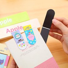 2pcs /Set Cute Animal Magnetic Bookmarks Books Marker of Page Student Stationery School Office Supply Kawaii