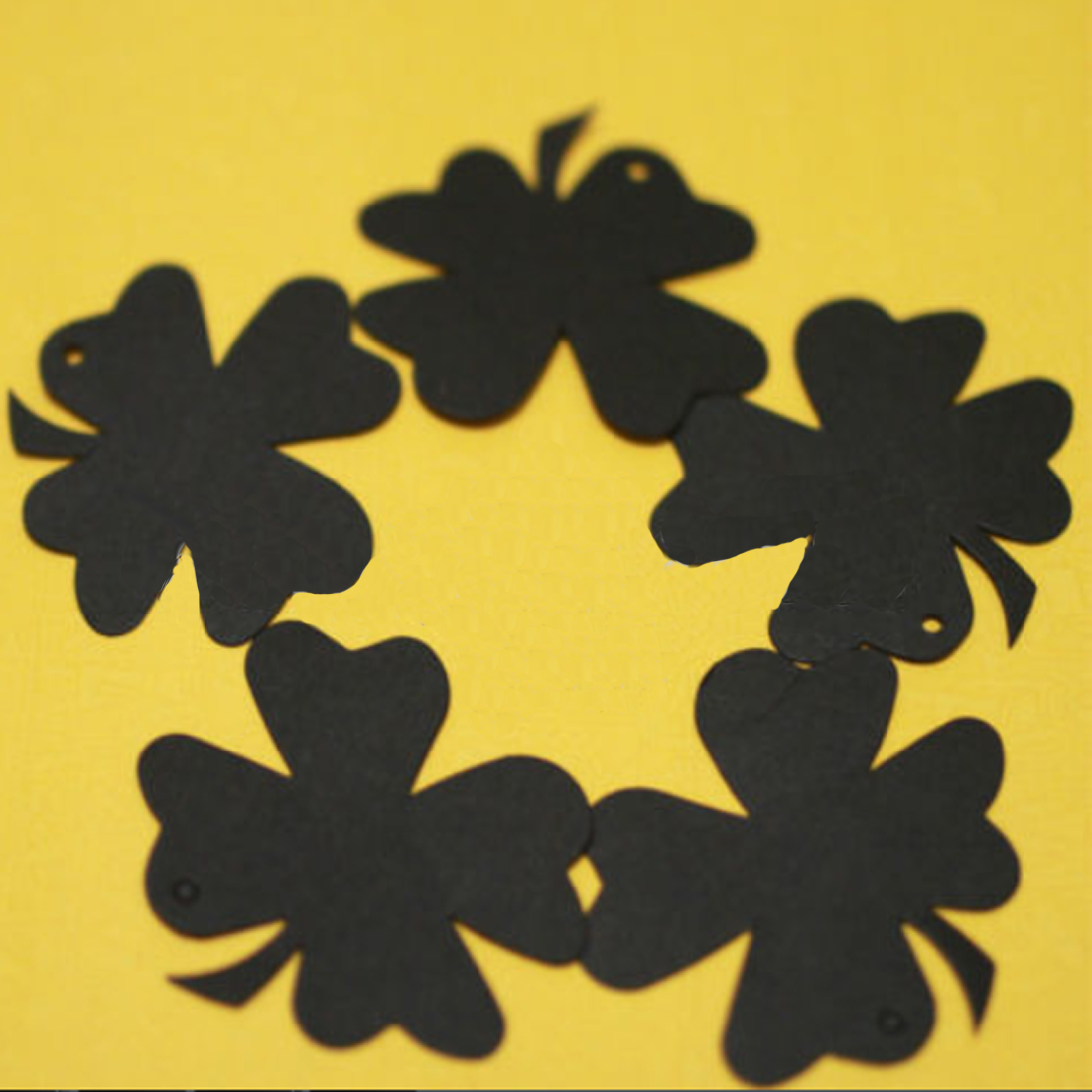 New Arrival 10Pcs Clover Blank Kraft Paper Gift Tags Wedding Doorplate Scallop Favour Luggage