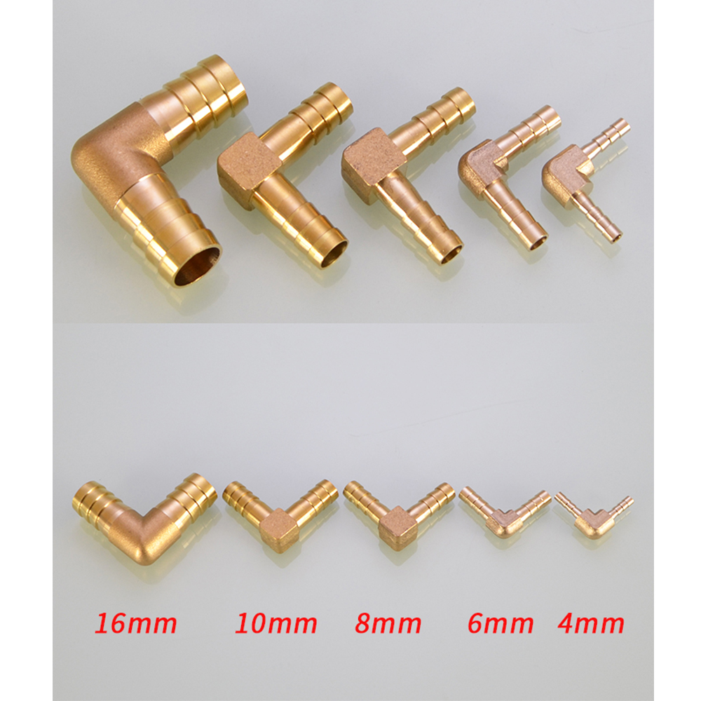 Brass Hose Pipe Fitting Coupling Elbow Equal Reducing Barb 4mm 6mm 8mm 10mm 16mm ID Hose Copper Barbed Coupler Connector Adapter