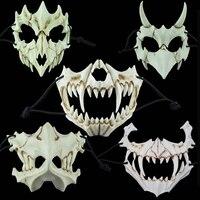 Japan Kurato Mito Horror Mask Halloween Dragon God Tiger Yasha Tengu Moth Cosplay Resin Skull Masks Scary Masquerade Party Props