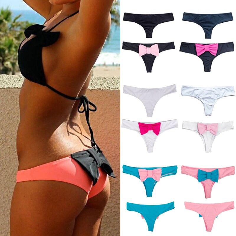 New Summer Style sexy swimwear women bikini bottom with big bow brazilian tanga panty underwear biquini swimsuit Size SML XL наклейки hkyrd a14 120 3m diy auto g0680 p