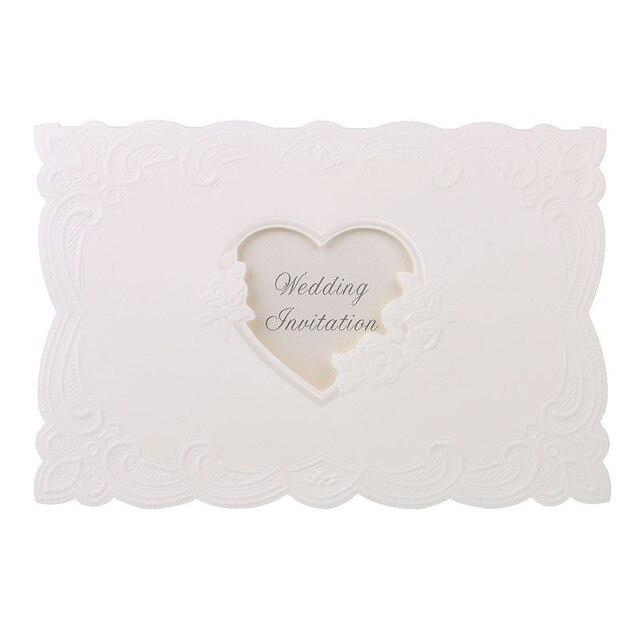 Vintage Laser Cut Coeur Amour Rose Invitations De Mariage Table Nom Lieu Cartes Visite Favors