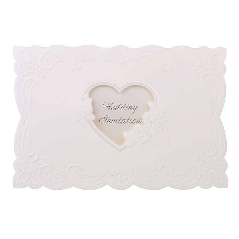 Vintage Laser cut Heart Love Rose Wedding Invitations Table Name ...