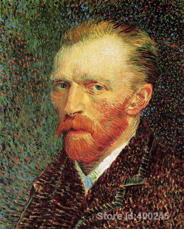 Best Art Reproduction Self Portrait Vincent Van Gogh Painting for sale hand painted High quality