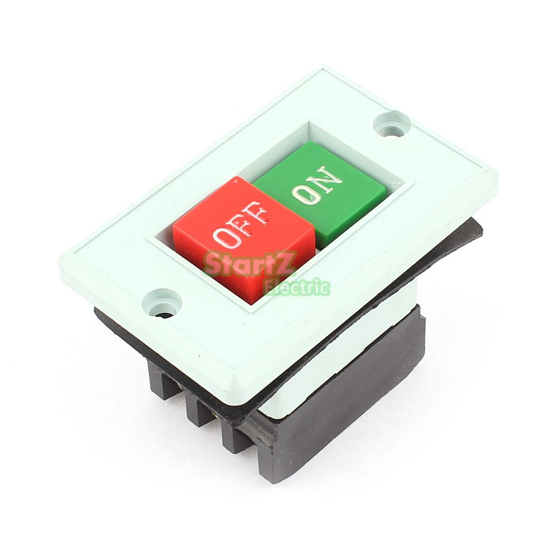 AC 380V 5A 6 Terminals ON/OFF  Motor Control Rectangle Plastic Power Push Button Switch Station  LC3-5 10a 250v 380v on off waterproof push button switch for cutting machine drill switch plastic motor best price